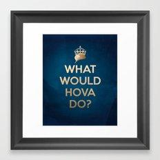 What Would Hova Do? - Jay-Z Framed Art Print