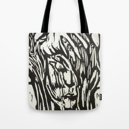 Tree Woman- Woodcut Tote Bag