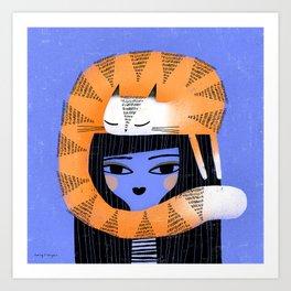 ORANGE HAT Art Print