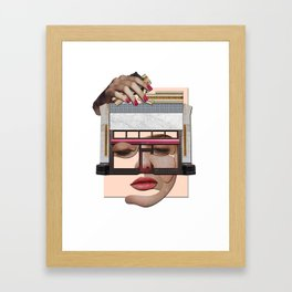 Pink portrait construction Framed Art Print