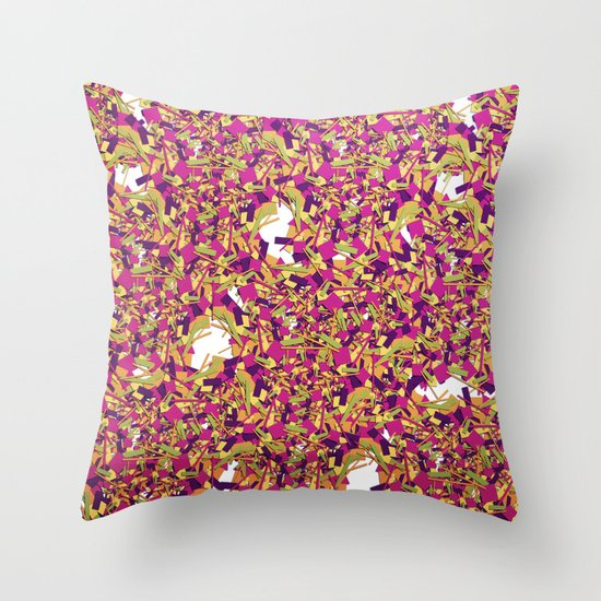 Color pieces Throw Pillow