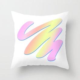 Pastel Scribble Throw Pillow