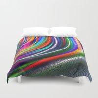 aurora Duvet Covers featuring Aurora by David  Gough