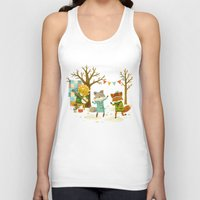 dancing Tank Tops featuring Critters: Spring Dancing by Teagan White