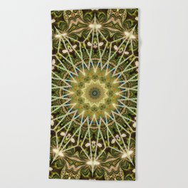 Geometric Forest Mandala Beach Towel