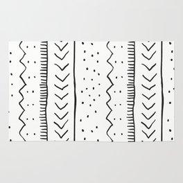 Moroccan Stripe in Cream and Black Rug