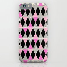 Triangles and lines (pink & grey) iPhone 6s Slim Case