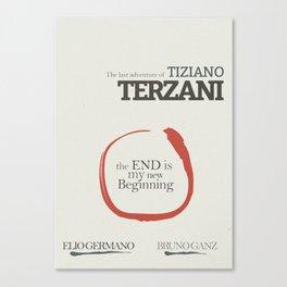 Tiziano Terzani, Bruno Ganz, Germano, The end is my beginning. La fine è il mio inizio, Movie Poster Canvas Print