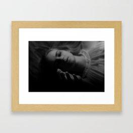 dark girl Framed Art Print