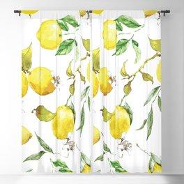 Watercolor lemons 8 Blackout Curtain
