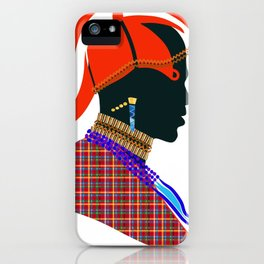 massai warrior digital design zolliophone shop iPhone Case