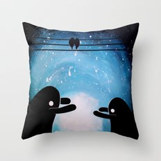 cuddle monsters Throw Pillow