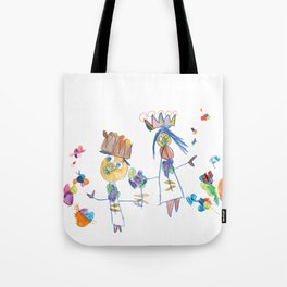 King, queen and butterflies Tote Bag