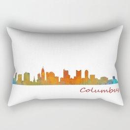 Columbus Ohio, City Skyline, watercolor  Cityscape Hq v1 Rectangular Pillow