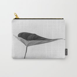 The Leaf (Black and White) Carry-All Pouch