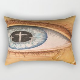 Reflection in Eye Rectangular Pillow