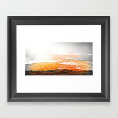 Black & White & Red Pacific Framed Art Print