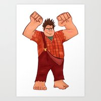 wreck it ralph Art Prints featuring I'm Gonna Wreck It! by shaunaoconnor