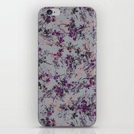 Chalk Branches-Purple iPhone Skin