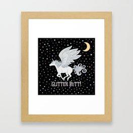 Glitter Butt! Framed Art Print