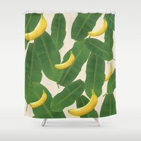 banana Shower Curtains featuring banana by aisyrahma