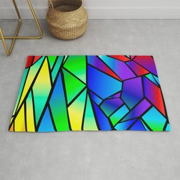Rainbow Stained Glass Rug