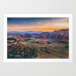 Red Rock Utah Sunset Fine Art Print Art Print
