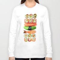 sushi Long Sleeve T-shirts featuring Sushi by Sam Luotonen