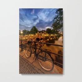 AMSTERDAM Evening impression from Brouwersgracht Metal Print