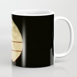 Super Moon Rises behind Mountain Coffee Mug