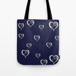Polka Heart Party Tote Bag