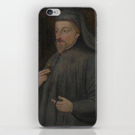 Vintage Geoffrey Chaucer Portrait Painting iPhone Skin