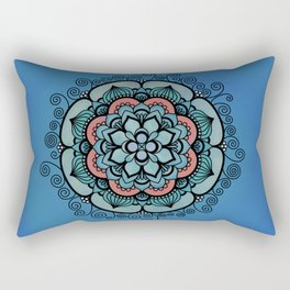 Colorful Floral Design Rectangular Pillow