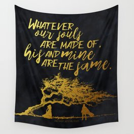 Wuthering Heights - Souls - Gold Foil Wall Tapestry