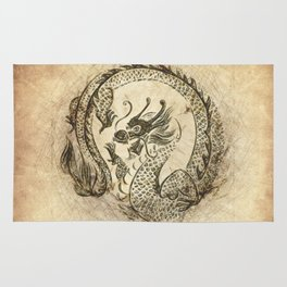 Dragon Quote Rug