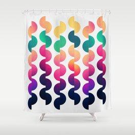 Joy of summer / Light grey Shower Curtain