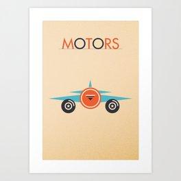 MOTORS - Plane Art Print