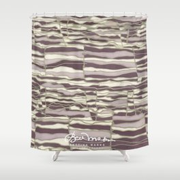 SILVER TECHNO Shower Curtain