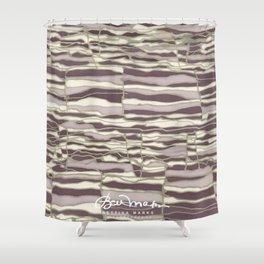 SILVER TECHNO Shower Curtain