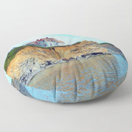 Cliffs of Perce Quebec Floor Pillow