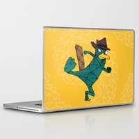platypus Laptop & iPad Skins featuring My Perry the Platypus by TheCore