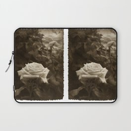 Pink Roses in Anzures 5 Antiqued Laptop Sleeve