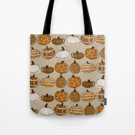 Pumpkin Party in Almond Tote Bag