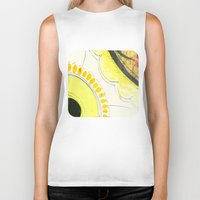 kitchen Biker Tanks featuring Kitchen Flowers  by Ethna Gillespie
