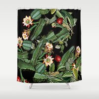 botanical Shower Curtains featuring BOTANICAL  by sametsevincer