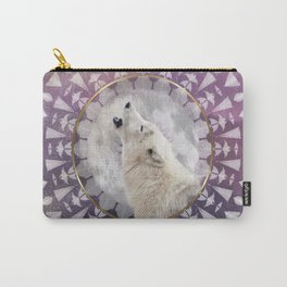 Mandala Solar Wolf Carry-All Pouch