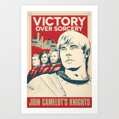Join Camelot's Knights - Merlin Art Print