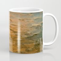 jack frost Mugs featuring Jack Frost, the icy sunrise by Marshall Arts