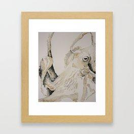 Coffee Octopus Framed Art Print