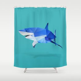 Great White. Shower Curtain